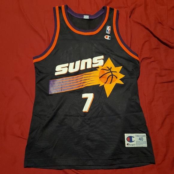 the latest fdb2f d000f Phoenix Suns Road Black Kevin Johnson Jersey